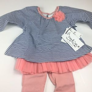 NWT Pippa & Julie 2 piece outfit 18M